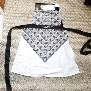 BEBE White and Black Apron